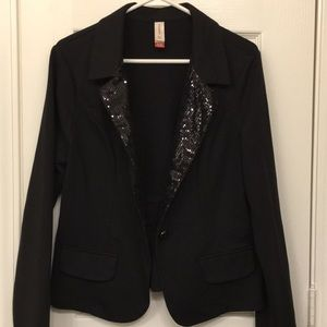 Black sequin blazer.